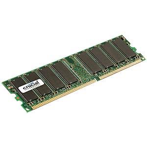1024MB DDR 400MHz 184pin 2,5V Crucial CRUCIAL CT12864Z40B