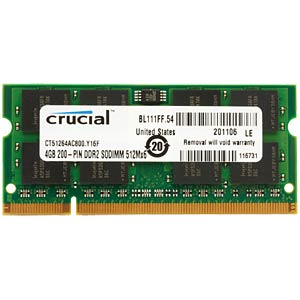 4096MB SO DDR2 800 Crucial CRUCIAL CT51264AC800
