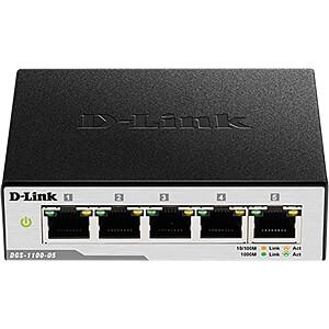 Switch, 5-Port, Gigabit Ethernet D-LINK DGS-1100-05/E