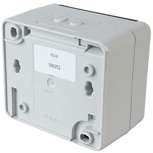 AP IP44 junction boxes, surface-mount for 2 modules DAETWYLER 417510