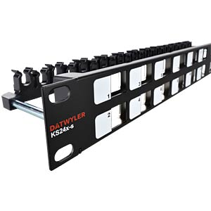 "48 cm (19"") RJ45 patch panel for 24 RJ45 modules DAETWYLER 418023"