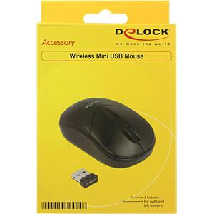 Maus (Mouse), Funk, schwarz DELOCK 12494
