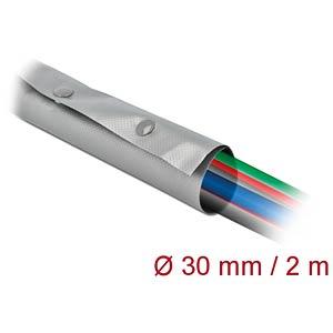 DELOCK 20727 - Kabelschutzschlauch mit Knopfverschluss 2 m x 30 mm