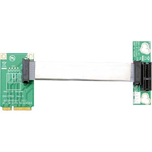 Delock riser card, Mini PCI Express > PCI Express x1 left insert DELOCK 41305