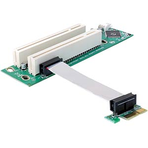 Riser PCIe>2x PCI, 32-bit cable, 9 cm, left insertion DELOCK 41341