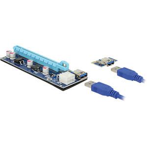 DELOCK 41426 - Delock Riser Karte PCIe x1 > PCIe x16 mit 60 cm USB Kabel