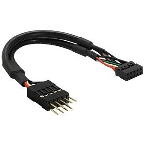 USB Pinheader Stecker auf Buchse 10pin, 15 cm DELOCK 41781