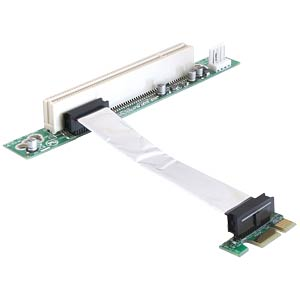 Riser card, PCI Express x1 > PCI 32-bit 5 V with flexible, 9-cm DELOCK 41856