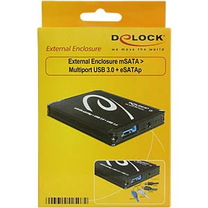 Delock external enclosure mSATA > Multiport USB 3.0 + eSATAp DELOCK 42508