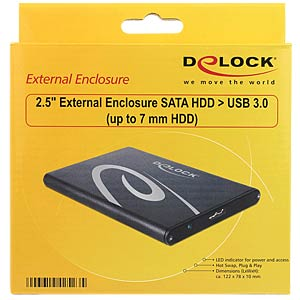 "6.4-cm (2.5"") external enclosure SATA to USB 3.0 DELOCK 42523"