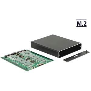 externes Dual M.2 SSD Gehäuse, USB 3.1 DELOCK 42588