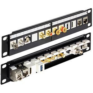 "10"" Keystone Patchpanel 12 Port schwarz DELOCK 43259"