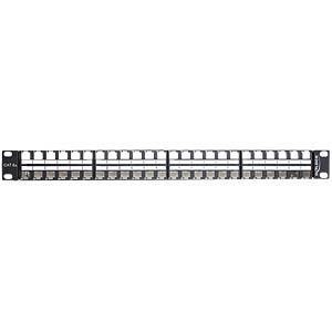 "48 cm 19"" keystone patch panel 48-port, 1 U DELOCK 43280"