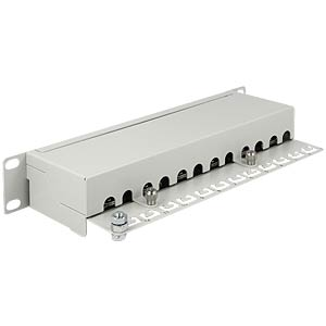 "10"" Cat.6 Patchpanel 12 Port, grau DELOCK 43299"