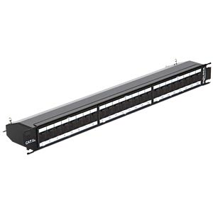 "19"" Patch Panel 24 Port Cat.6A black DELOCK 43320"