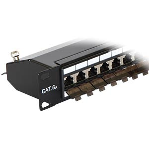 "19"" Patchpanel 24 Port Cat.6A schwarz DELOCK 43320"