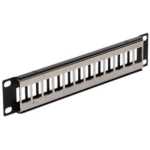 "10"" Keystone Patch Panel 12 Port metal black DELOCK 43326"
