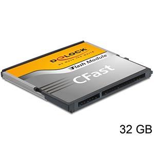CFast-kaart 32GB, SATA 6 Gb/s, type MLC A19 DELOCK 54650