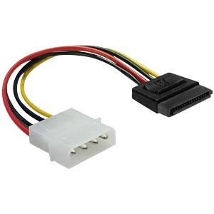 Molex 4 Pin plug > SATA 15 Pin jack 6 cm DELOCK 60112