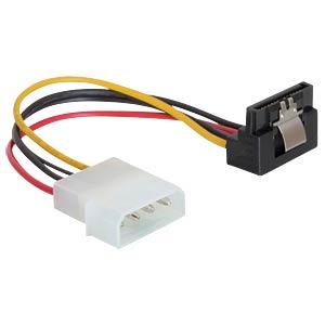 Molex 4 Pin plug > SATA 15 Pin jack 90° DELOCK 60121