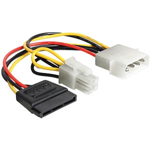 Power Molex 4pin St. -> SATA15Pin Bu.+ P4 St. DELOCK 60127