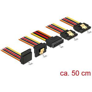 Delock Kabel SATA 15 Pin St. > 4x SATA 15 Pin Bu. gewinkelt, 50 DELOCK 60149