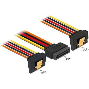 Delock Kabel SATA 15 Pin St. > 2x SATA 15 Pin Bu. gewinkelt, 30 DELOCK 60159