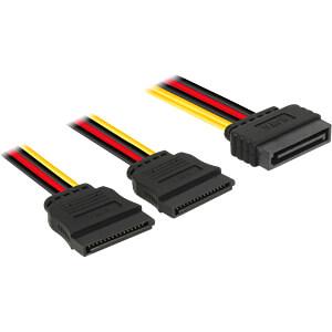 Kabel Power SATA 15 Pin St. > 2x SATA 15 Pin Bu. 15 cm DELOCK 60174