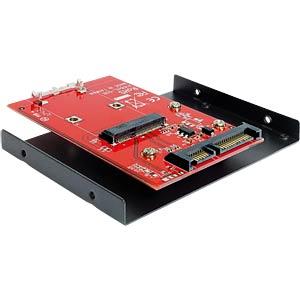 "SATA 22-pin > mSATA with 3.5"" frame converter DELOCK 62415"