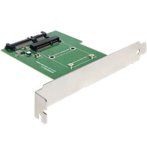 SATA 22-pin > mSATA with converter with slot bracket DELOCK 62433