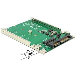Konverter SATA 22pin > M.2 NGFF 7 mm (2.5) DELOCK 62544