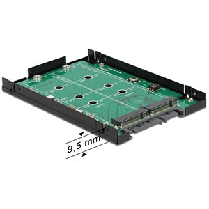 "SATA 22pin > 2x M.2 NGFF 2.5"" 9,5 mm DELOCK 62590"