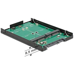 "SATA 22-pin > 2 x mSATA 2.5"" 9.5 mm DELOCK 62594"