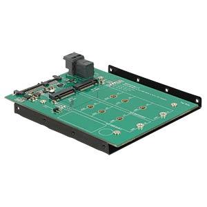 Konverter SATA 22 Pin + SFF-8643 > M.2(M) & M.2(B) DELOCK 62704