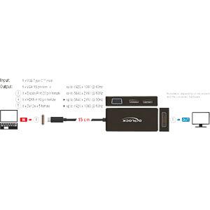 Adapter USB Type-C Stecker > VGA, HDMI, DVI, DisplayPort DELOCK 63929
