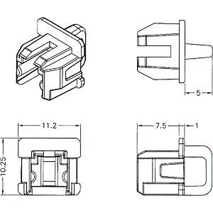 Staubschutz für RJ11 Buchse mit Griff 10 Stück DELOCK 64018