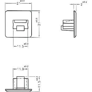 Staubschutz für RJ45 Buchse ohne Griff 10 Stück DELOCK 64019