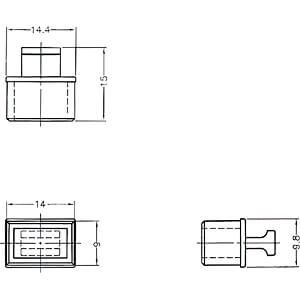 Staubschutz für SFP Schacht mit Griff 10 Stück DELOCK 64021