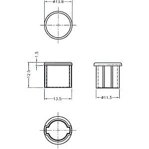 Staubschutz für BNC Buchse 10 Stück DELOCK 64022