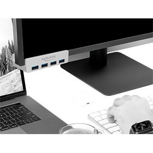 Externer USB 3.0 4 Port Hub mit Feststellschraube DELOCK 64046