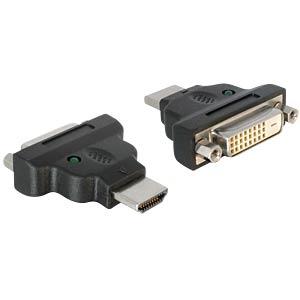 HDMI Adapter, HDMI A Stecker auf DVI 24+1 Buchse, LED DELOCK 65020