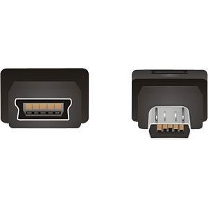 USB micro B plug to mini USB 5-pin socket DELOCK 65063