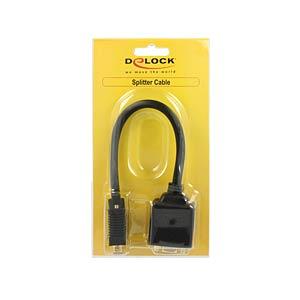 VGA Adapter, VGA Stecker auf VGA Buchse + DVI 24+5 Buchse DELOCK 65068
