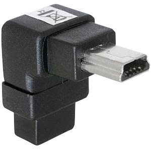 USB-B mini 5-pin plug/socket 90° angle DELOCK 65097