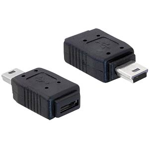 USB mini plug > USB micro A+B socket DELOCK 65155