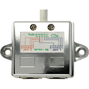 RJ45 Port Doppler 1x St.-> 2x Bu. 2x Ethernet DELOCK 65177