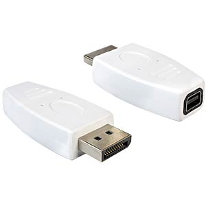 DisplayPort Adapter, DP 1.2 Stecker auf mini DP Buchse DELOCK 65240