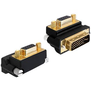 VGA socket > DVI 24+5 - 270° angled adapter DELOCK 65261