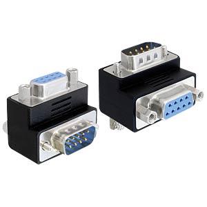 Adapter Sub-D Buchse>Sub-D Stecker 90° gew. DELOCK 65264