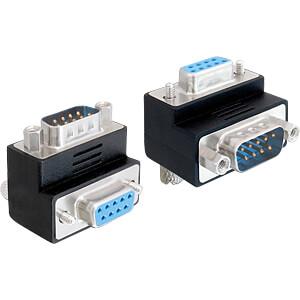 DELOCK 65266 - Adapter Sub-D 9Pin Stecker/Buchse 90° gewinkelt